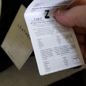 Zara Shoes - Zara Trafaluc Leather High Heeled Ankle Boots